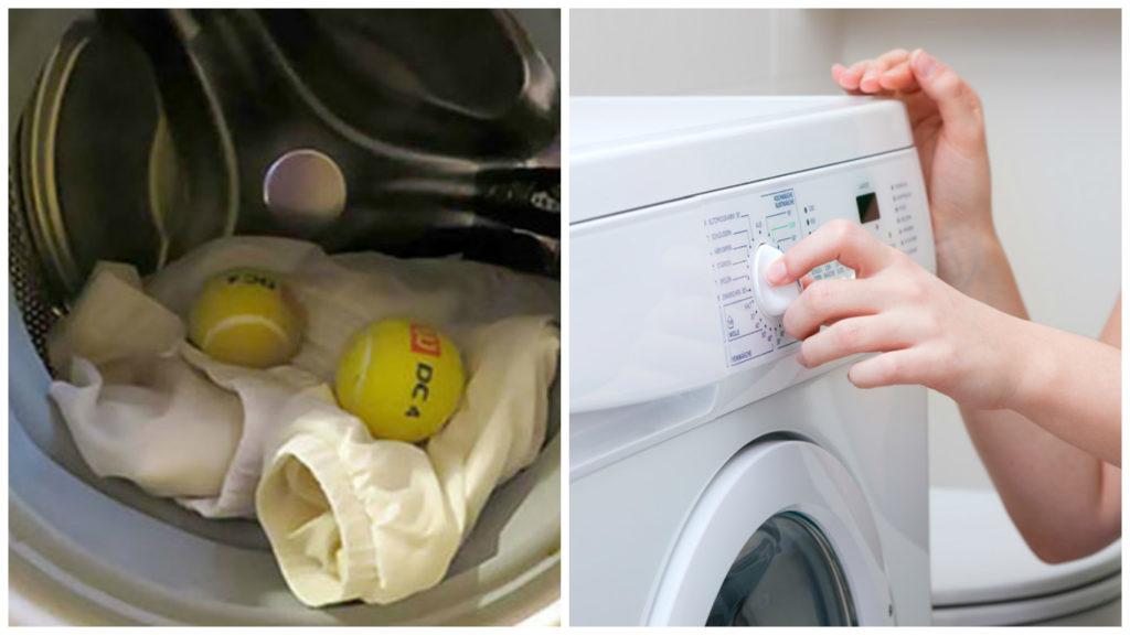фото Машинне прання пухової куртки